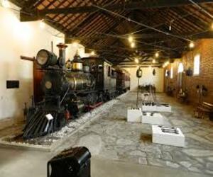 Vista do museu ferroviário em São João del - Rei
