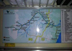 mapa trajeto trem da vale